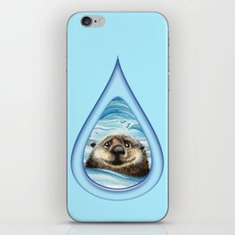 Sea Otter Drip Pattern iPhone Skin