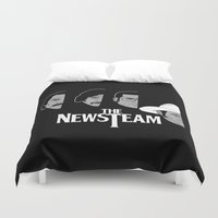 anchorman Duvet Covers featuring The Newsteam by Buby87
