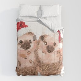 Christmas Twin Hedgehog Comforters