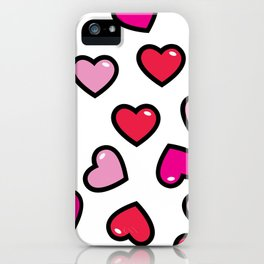 aloha red hearts iPhone Case