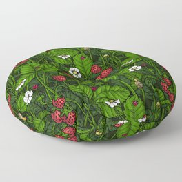 Wild strawberries Floor Pillow