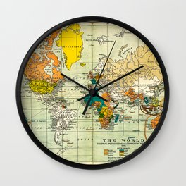Map of the old world Wall Clock