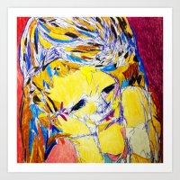 'Fragmented 3' Art Print