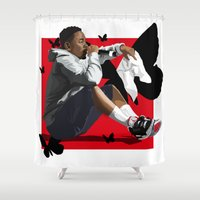 kendrick lamar Shower Curtains featuring Kendrick Lamar by MikeHanz