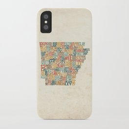 Arkansas by County iPhone Case