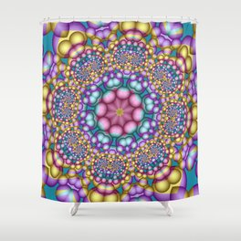 joy and energy -6- Shower Curtain