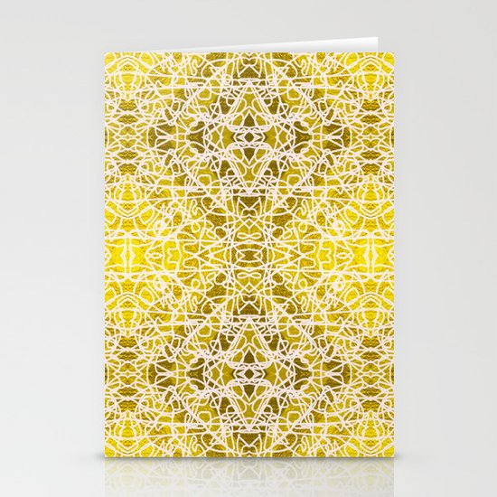 Random rope on gold foil Stationery Cards