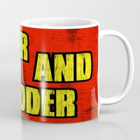 borderlands Mugs featuring BIGGER AND BADDER by Resistance