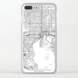 Tampa Map White Clear iPhone Case