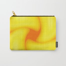 Yoked Yellow And Orange Abstract Carry-All Pouch