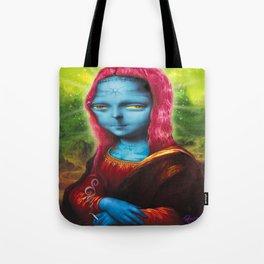 Blue Mona Tote Bag