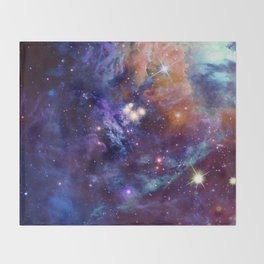 Bright nebula Throw Blanket