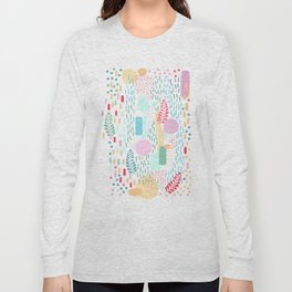 Abstract Nature - Colourful Doodle Pattern 3 Long Sleeve T-shirt