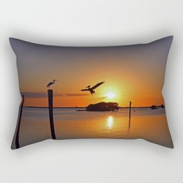 Dancing by Firelight Rectangular Pillow