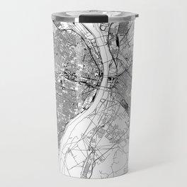 St. Louis White Map Travel Mug