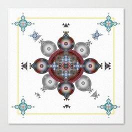 Rose of Solomon Meditation mandala Canvas Print