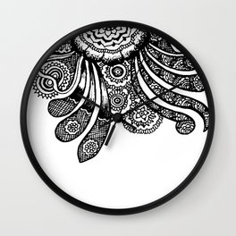 Mandala And Swirls Wall Clock