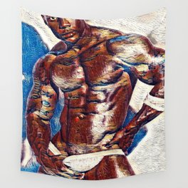 Black Jock in White Wall Tapestry