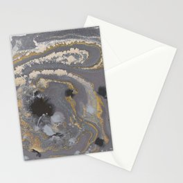 Fluid Gold Concrete Stationery Cards