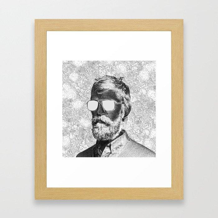 Graphic novelist Framed Art Print