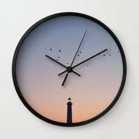 twilight Wall Clocks featuring Twilight by o0fs0o