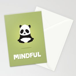 Mindful panda levitating Stationery Cards