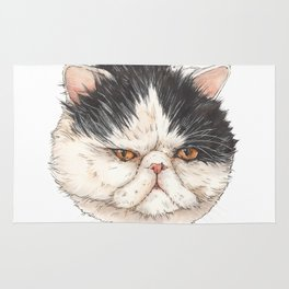 Bacon the Persian - artist Ellie Hoult Rug