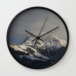 Winter in the Mountains Wall Clock