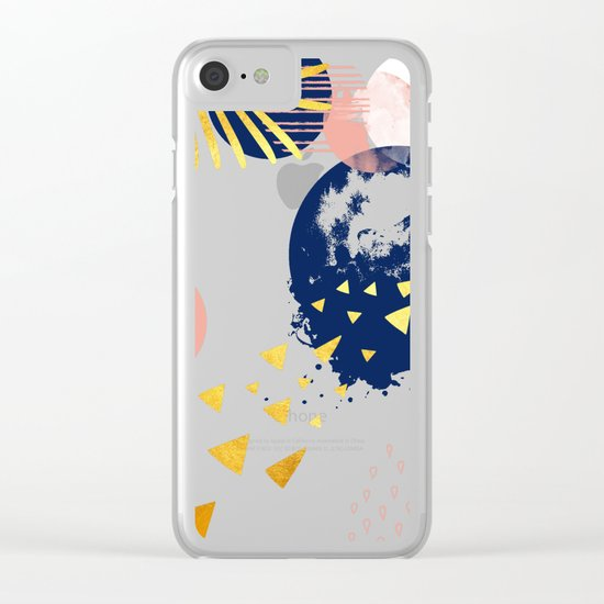 abstract Clear iPhone Case