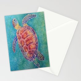Sea Turtle Watercolor Stationery Cards