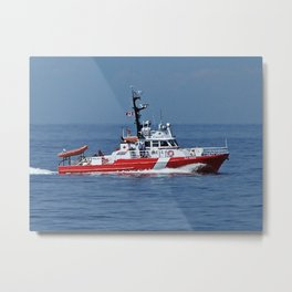 Coast Guard on Patrol Metal Print