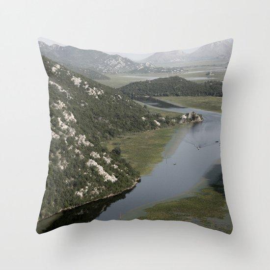 Rijeka Crnojevica  Montenegro Throw Pillow