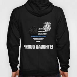 Thin Blue Line Police Daughter Family Appreciation American Flag Hoody