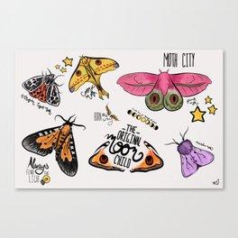 Moth City Canvas Print