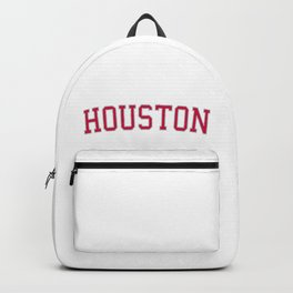 Houston Sports College Font Backpack