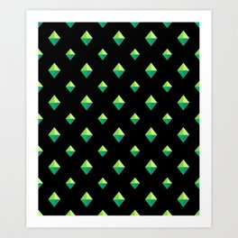 Emerald Diamonds Art Print