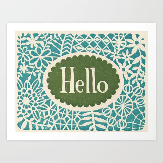 Hello print Art Print