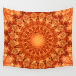 Mandala orange  Wall Tapestry