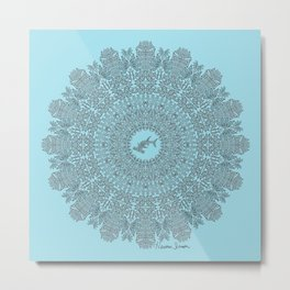 Tribal Hammerhead Shark Mandala Metal Print