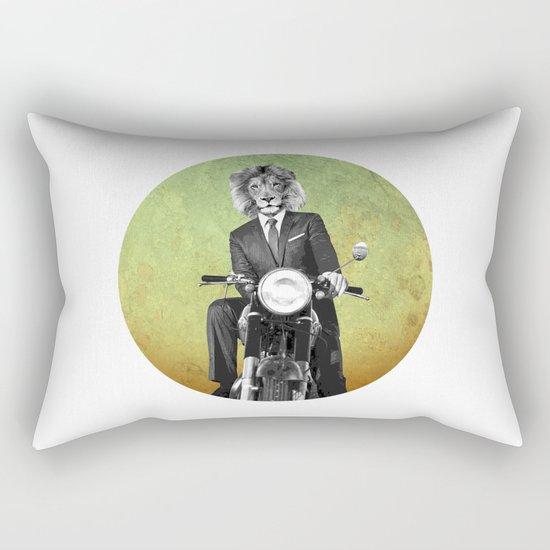 Lion biker Rectangular Pillow