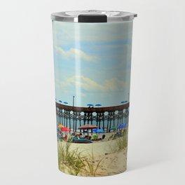 Beach And Pier Travel Mug