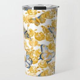Butterflies 'n Roses Travel Mug