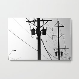 Wired II Metal Print