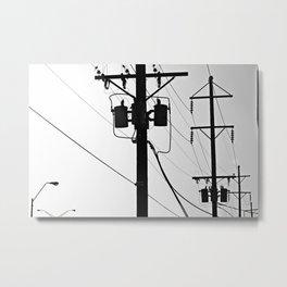 Wired II Metal Print