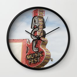 ACL Music Fest Wall Clock