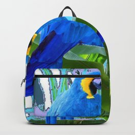 BLUE SURREAL BLUE MACAWS JUNGLE GRAPHIC Backpack