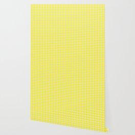 triangle bunting pattern |  yellow & white Wallpaper