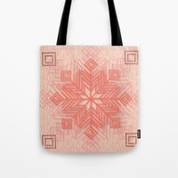 snowflake Tote Bags featuring Snowflake by Siddika