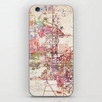 phoenix iPhone & iPod Skins featuring Phoenix  by MapMapMaps.Watercolors