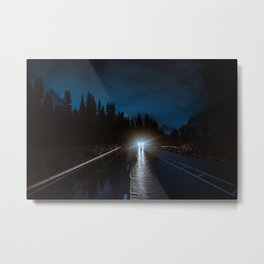 Rainy Yosemite After Dark Metal Print